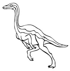 ornithomimus dinosaur coloring pages