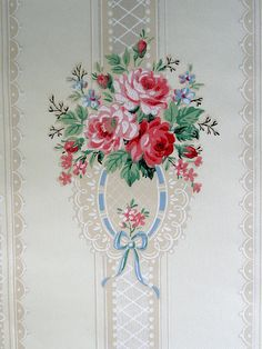 Floral vintage wallpaper by seasiderosegarden via Flickr