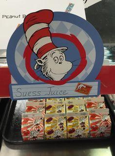 Seuss Juice during the Dr. Seuss Birthday Celebration @ Seven Oaks Elementary School Menu, School Cafe, School Snacks, School Lunch, Dr. Seuss, Smart Nutrition, Kids Nutrition, Dr Seuss Activities, Cafeteria Food