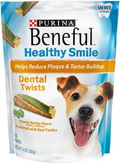 One Pouch of Beneful Healthy Smile Dental Dog Snack, Small/Medium Twists Helps Reduce Plaque & Tartar Buildup and Freshen Breath Delicious Best Treats For Dogs, Cow Ears, Peanut Butter Dog Treats, Smile Dental, Homemade Dog Treats, Dog Teeth, Dog Snacks, Medium Dogs, E Bay