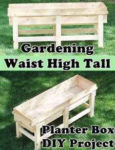 """Gardening Waist High Tall Planter Box DIY Project Homesteading  - The Homestead Survival .Com     """"Please Share This Pin"""""""