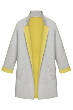 Lace-Paneled Open-Front Trench Coat