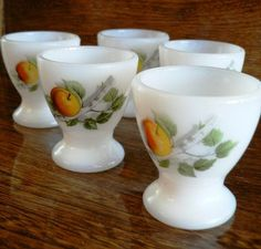 vintage kitsch  French vintage ARCOPAL EGG CUPS by CndnPrairieAntiques, $28.00