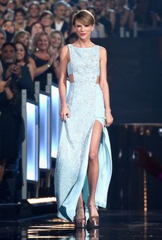 Taylor Swift in Reem Acra at the Academy of Country Music Awards. See all of the singer's best looks.