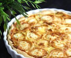 pâte brisée, poireau, lardons fumés, fromage de chèvre, oeuf, crême fraîche, lait, Poivre, Sel