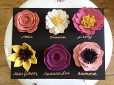 Felt Flower Magnet by MillStreetMakes on Etsy