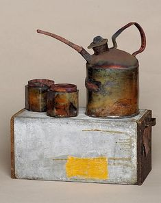 Teapot show 2008 Sharon Bartmann'Oil for two' raku