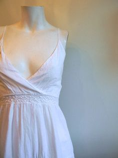 vintage. Mexican Cotton Spaghetti Strap Dress /  S by styleforlife, $42.25