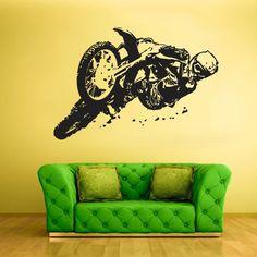 Wall Vinyl Sticker Decals Decor Art Bedroom Design Mural Motorcycle Moto Bike Gp Dirty Motocross (Z805)