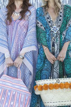 bright, colorful beach caftans #resort #gypset #style