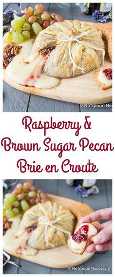 Raspberry & Sugared Pecan Brie en Croute
