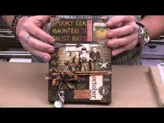 Tim Holtz Exclusive - Mixed Media Texture and Inking Techniques - YouTube