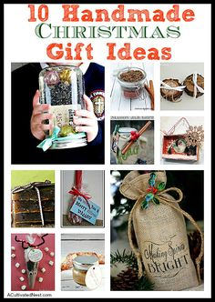 10 Awesome Handmade Christmas Gifts that don't take a lot of time to make!