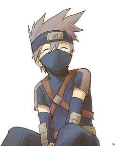 Young Kakashi - Naruto anime (awww, I still think he's a little kid on the inside. Kakashi Hatake, Gaara, Naruto Y Boruto, Naruto And Sasuke, Kid Kakashi, Itachi, Anime Naruto, Manga Anime, Fanarts Anime