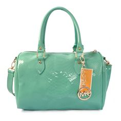 Michael Kors Embossed leather Medium Green Satchels only $72.99