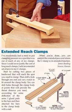 #2571 DIY Long Reach Clamp - Clamp and Clamping