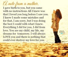 Lessons Learned in Life | A note from a mother.