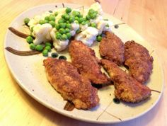 Low Carb Chicken Tenders with Almond Flour and Parmesan.  I like to add a bit of coconut flour to mine,  but these look great!