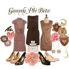 Gamma Phi Beta, created by violetpretty on Polyvore