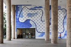 roberto burle marx, painel de azulejos de portinari e jardim suspenso do edifício gustavo capanema (1938), no rio