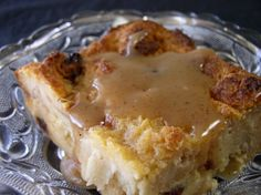 I found this recipe on the MyRecipes.com website.  The intro states it originates from New Orleans chef Leah Chase, the queen of Creole cuisine (and from Dooky Chases Restaurant in New Orleans, Louisiana).  It is positively delicious.  Its really quite good as a plain bread pudding (without the added sauce).  But the Bourbon sauce is really the je ne sais quoi finish that makes this stand out far above all the others Ive tried.  For those who dont care for alcohol, the Bourbon Sauce is not…