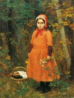 Heinrich Hirt--must be Little Red Riding Hood Illustrations, Illustration Art, Little Red Riding, Red Ridding Hood, John Everett Millais, Social Art, Classic Paintings, Classic Portraits, Mini Paintings