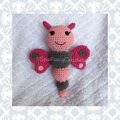 Butterfly, 100% Cotton, Crochet Butterfly, Butterflies, Butterfly Baby Toy, Butterfly Nursery, Butterfly Theme, Stuffed Butterfly by SewFancyCrochet on Etsy https://www.etsy.com/listing/291139757/butterfly-100-cotton-crochet-butterfly