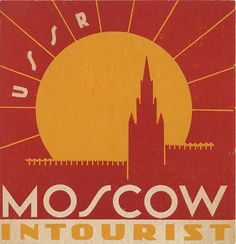 luggage label - Moscow