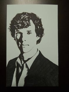 Benedict Cumberbatch Sharpie Drawing. Hand by FindingPetrichor