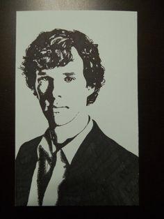 Benedict Cumberbatch Sharpie Drawing. Hand by FindingPetrichor