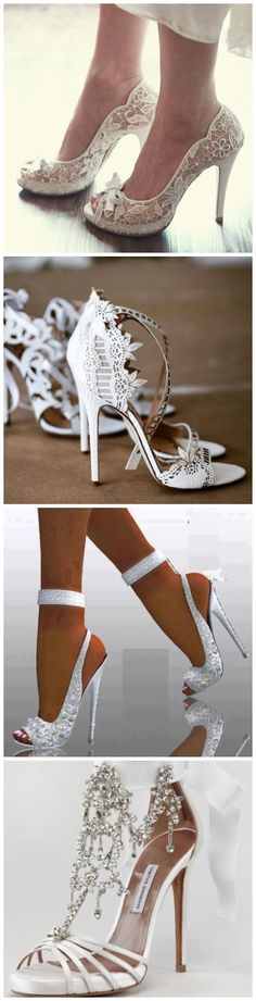Wedding Shoes » 20 White Wedding Shoes Brides Wish They Wore at Their Wedding »   ❤️ See more:  http://www.weddinginclude.com/2017/03/white-wedding-shoes-brides-wish-they-wore-at-their-wedding/