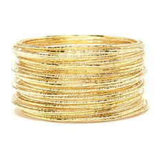 Forever 21 Etched Bangle Set ($7.90) ❤ liked on Polyvore featuring jewelry, bracelets, forever 21 jewelry, bracelets bangle, forever 21, etched jewelry and forever 21 bangle