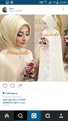 Türban modelleri Bridal Hijab, Hijab Bride, Bridal Hair, Bridal Gowns, Turban Hijab, Hijab Dress, Red Wedding Dresses, Wedding Gowns, Hijabi Wedding