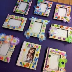 Kinderfeestje fotolijstjes maken Kids Birthday Crafts, Birthday Party At Home, Birthday Party Games For Kids, Slumber Party Games, Birthday Activities, 10th Birthday Parties, Party Activities, Party Photo Frame, Arts And Crafts For Teens
