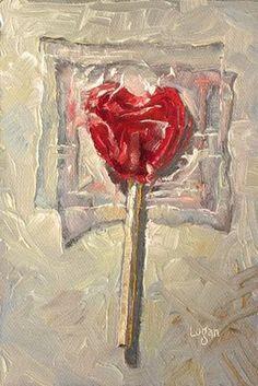 """""""Lollipop Heart"""" original fine art by Raymond Logan Sweet Drawings, Art Drawings, Painting Inspiration, Art Inspo, Advanced Higher Art, Candy Art, Ap Art, Still Life Art, High Art"""
