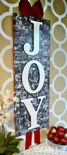 Amazing JOY sign. Beautiful for the holidays and beyond.