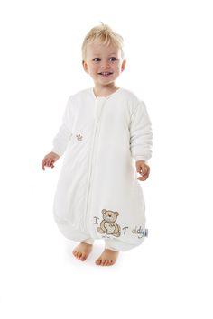 I Love Teddy Long Sleeve Unisex Bamboo Sleep Sack Wearable Blanket with Feet