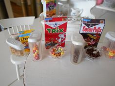 """giovana-von: """" Dollhouse Miniature 1:12 scale Cereal to give your dollhouse a lived in look! Source provided, these are tooooo cute! BakinginMiniature on Etsy """""""
