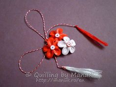 Quilled Martisoare - Quilling by ManuK Quilling Jewelry, Quilling Craft, Quilling Flowers, Paper Quilling, Paper Flowers, Rakhi, Perfect Party, Paper Art, Origami
