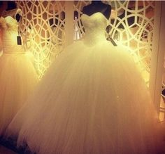 Find More Wedding Dresses Information about 2015 New Luxury Custom Made Real Sample Tulle With Pearls Sweetheart Ball Gown Big Train White Wedding Dresses/Bridal Gowns,High Quality tulle skirts for women,China dress neck Suppliers, Cheap tull from XCOS Wedding Dresses Co.,Ltd on Aliexpress.com