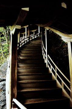 Connecting corridor at Eikan-do Zenrin-ji temple, Kyoto, Japan