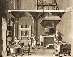 European Papermaking -- on the sizing of papers, including natural materials like gelatin
