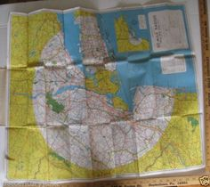 Hagstrom-039-s-Foldout-Map-Of-50-Mile-Radius-From-New-York-City-50-039-s