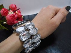 Apple Watch Band, Apple iWatch Band, iWatch Or Apple Watch Band Adaptor Apple Watch Jewelry silver bling Iwatch Rhinestones Silver Jewelry, Silver Rings, Apple Band, Silver Apples, Craft Stick Crafts, Craft Sticks, Apple Watch Bands 42mm, Metal Bracelets, Rings For Men