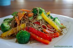 Colorful Veggie Stir Fry with Soba Noodles, a recipe on Food52