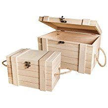 woodworking - 2 Premium Wooden Storage Chests with Metal Clasps & Rope Handles Wooden Storage Boxes, Wooden Crates, Craft Storage, Wood Boxes, Small Wood Projects, Diy Pallet Projects, Woodworking Projects, Craft Stick Crafts, Wood Crafts