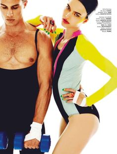 Alvaro Beamud Cortes Captures Workout Fever for Elle Mexico July 2012
