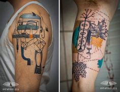 Artist Duo Puts A Modernist Spin On The Art Of Tattooing - Artists: Expanded Eye source: viralnova.com