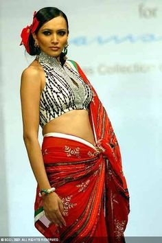 Recycling the same blouse with different sarees : top designer do it, why cant you?    saree blouse design designer saree