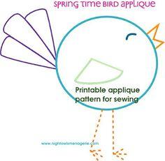 Springtime bird applique